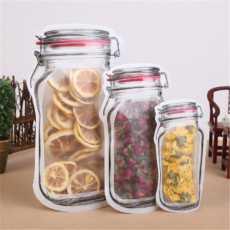 3 PCS Mason Bag Jar Zipper Bags Food Storage Snack Sandwich Ziplock Bags...