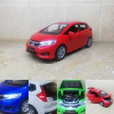 Honda Fit 1:32 Red Diecast Metal Model Cars Collectable Alloy Toy Car 6 inch...