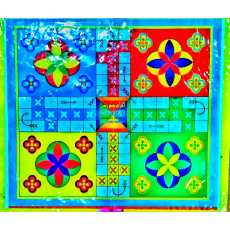 LUDO Board Game 2 Sided Game 36cm x 22cm With Complete Goti Set