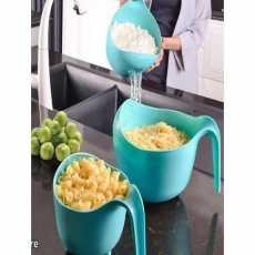 Limon'S Set Of 3 - Colander(Chalna)Or Food Stainer
