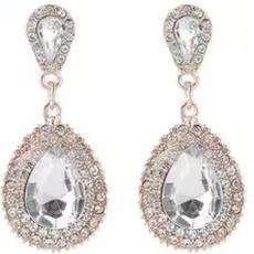 Allinone store  Women's beautifull fushain Crystal Earrings Green Blue White...