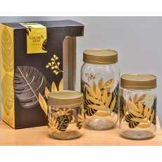 3 Piece Jar Set- Storage- Hena- Imported