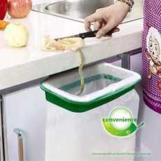 Plastic Frame Garbage/Trash Bin Bag Holder, Dustbin for Kitchen