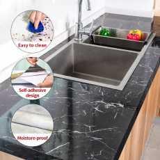60cm x 2 Meter Marble Texture Design PVC Waterproof Self adhesive Wallpaper...