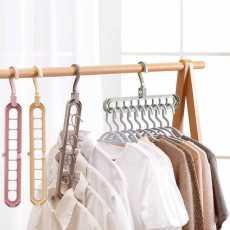 Pack of 6 PCs - Super Magic Changeable Clothes Pluto Plastic Hanger Space...