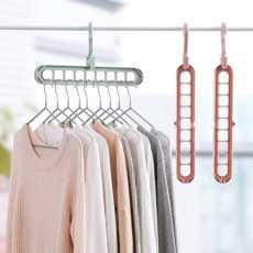 Pack of 2 Pcs Super Magic Changeable Clothes Pluto Plastic Hanger Space...