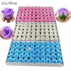 50Pcs/Lot Floral Rose Bath Body Sweet Scented Flower Petal Wedding Party...