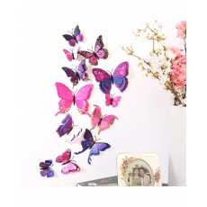 Pack of 6 - Double Layer 3D Butterfly Wall Sticker PVC Party Kids Bedroom...
