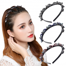 Double Bangs Hairstyle Hair Clips Hairpin Head Hoop Twist Plait Clip Front...