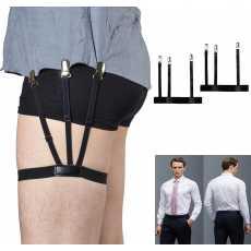 Men High Quality Non-slip Locking Clip Adjustable Shirt Stays Leg Thigh...
