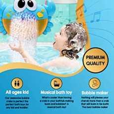 Baby Bath Bubble Crab Automatic Bubble Maker Blower Toys with Bath Fun Shower...