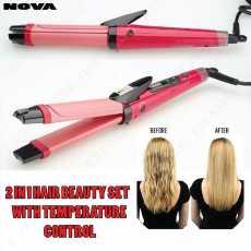Nova 2 in 1 - Electric Nano Ceramic Coated Hair Curler and Straightener
