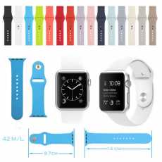 Apple Watch Silicon Strap 38/40mm,for iWatch Series 5/4/3/2/1