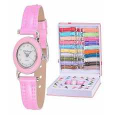 Inter Changeable Watch Set for Girls - Multi Color Strap