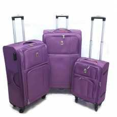 Zifel Paris Premium 3 Pcs Expandable Softside 4 Wheel Spinner Luggage Set (...
