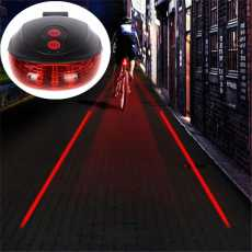 5 LED 2 Laser Bicycle light 7 Flash Mode Cycling Safety Rear Lamp Tail