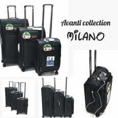 Avanti by Millano 4Wheels Tsa Lock Double Zipper Trolley Travel Luggage
