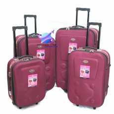 Super Premium Deluxe Set OF 4 Pcs 2 Wheel Soft Trolly Suitcase / Peach
