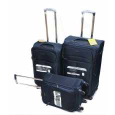 Diplomat Luggage Trolley Bags for Unisex, 16097-Navy 20  24  28