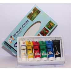 Omega Acrylic 6 Color Set