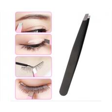 Professional Eyebrow black Tweezers Hair removal 3 pcs