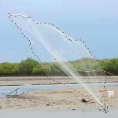 3 Feet Radius Fishing Net Polyester Mesh - Hand Casting Net For Small Fish