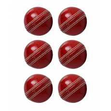 Pack of 6 - Hard Ball - Red Cricket Hardball