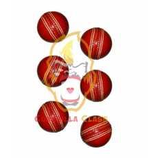 Hardball - Cricket Practicing Ball - Pack Of 6 Hard Balls