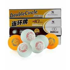 Table Tannis Balls - Orange - Double Circle - Pack Of 12