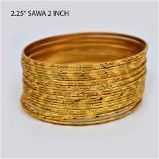 2-4 ( 2.25 Inch )  Set Of 6 Gold Plated Bangles /  Artificial Golden Bangles...