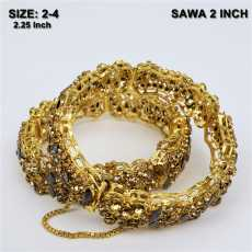 Set of 2 Artificial gold hand bangle / choriyan set for girls / party wear...