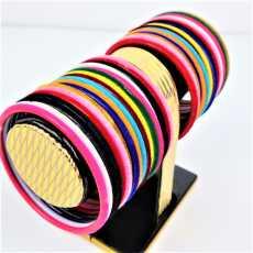 48 Pcs Artificial Glass hand bangle /kanch choriyan set for girls / party...