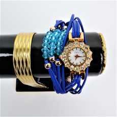 New Fashion Ladies Bracelet Watch /  Trending Blue Watch Style / Wrist Bangle...