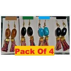 Pack of 4 High Quality Classy Royal tassel Trendy Earring