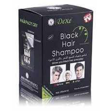 Box of 10 Black Hair Shampoo Sachets 25ML X10