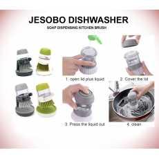 Dishwasher Brush  Jesobo Original Soap Dispensing  Palm Brush Storage Stand...