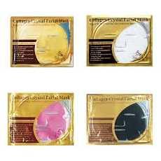 Pack of 4 Crystal Collagen Facial Masks