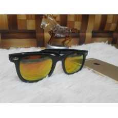 Sunglasses Golden Lens Black Frame For Men