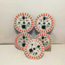 Pack of 5 Pieces DIY 12 Watt LED Chip Direct AC Input 220 Volt with 10CM Pure...