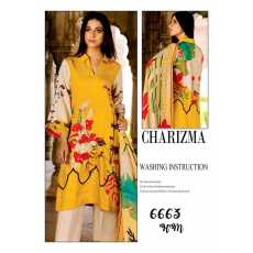 Charizma Summer Collection 2021 Three Piece Lawn suit with Chiffon Dupatta