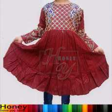 Honey Fancy Embroidery Full Sleeves Kids Kurti