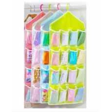 16 Pockets Multifunction Sorting Storage Bag Door Wall Hanging Closet Organizer