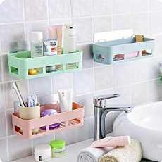 Bathroom Storage Rectangular Rack Organizer No Drill for Shower Soap Shampoo...