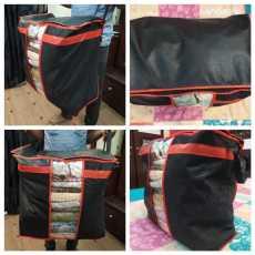 Portable Bamboo Charcoal Clothes Blanket Large Folding Bag Storage Box Organizer