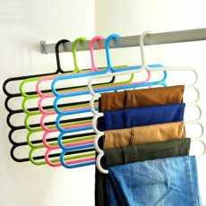 1 pc of 5 Layers Pants Hanger, Trouser Rack Closet Clothes Storage Hanger...