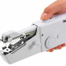 Portable Silai Smart Tailor Handy Stitch Mini Hand Sewing Machine (White)