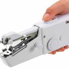 Portable Silai Smart Tailor Handy Stitch Mini Hand Sewing Machine (White)