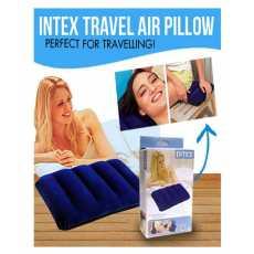 Blue Air Inflate Original INTEX Travel Rest Air Pillow Fabric Comfort, Size:...