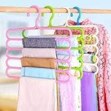 Hanger New Look - Multi-purpose Trousers Hanger 5 Layers Pants Hanger