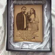 Engraved Wooden Family Photo frame  7 * 9 Size